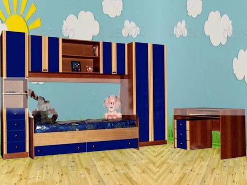 Колобок Стенка 3100*2100*420 Кровать 1900*700 Стол 1200*420