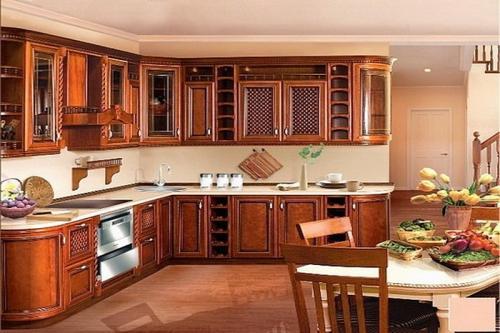 Кухни массив 048