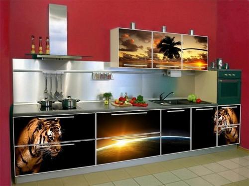 Кухня пластик 040