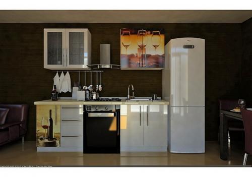 Кухня пластик 041