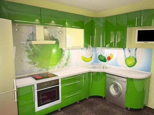 Кухня пластик 045