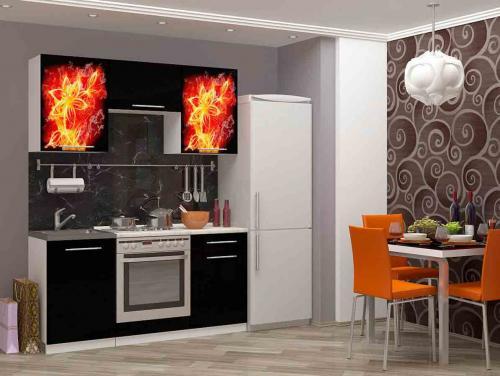 Кухня с фотопечатью-063