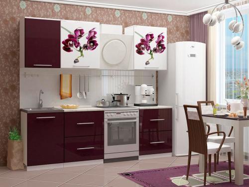 Кухня с фотопечатью-065