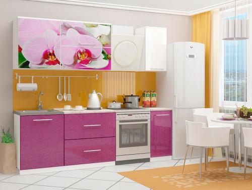 Кухня с фотопечатью-067