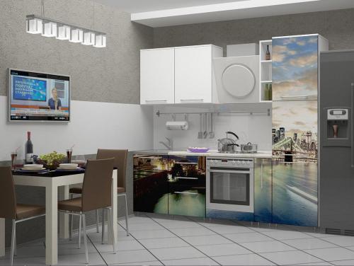 Кухня с фотопечатью-059