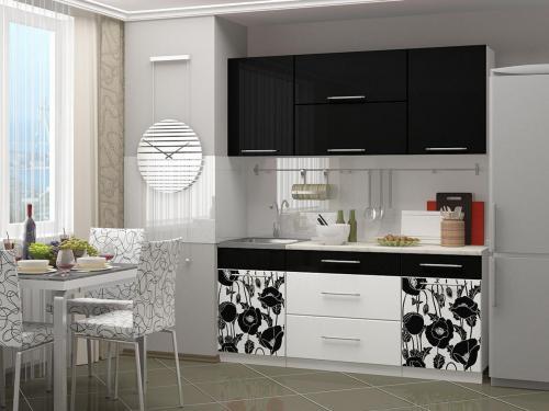 Кухня с фотопечатью-061