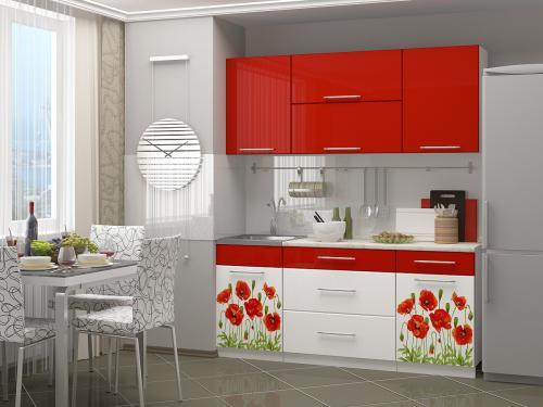 Кухня с фотопечатью-071