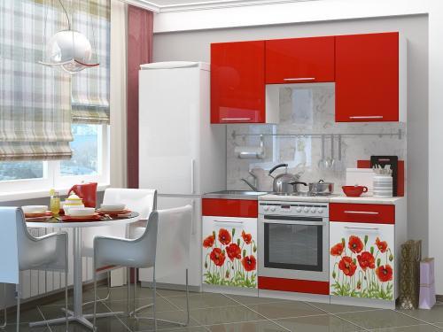 Кухня с фотопечатью-058