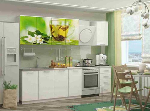 Кухня с фотопечатью-054