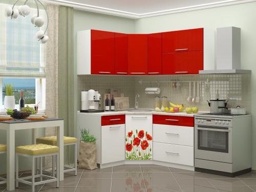 Кухня с фотопечатью-057