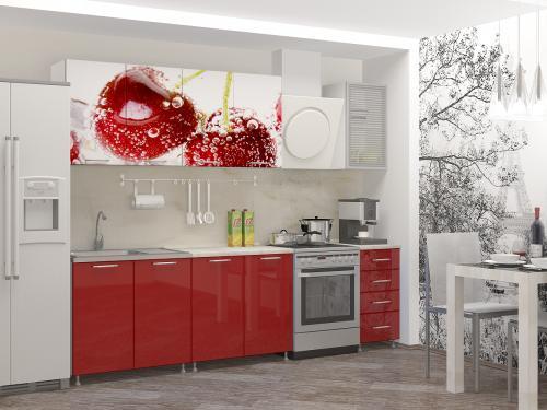Кухня с фотопечатью-064