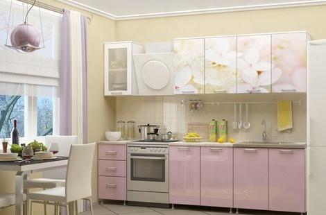 Кухня с фотопечатью-055