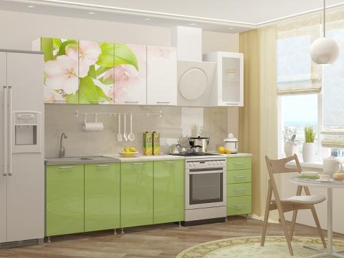 Кухня с фотопечатью-062