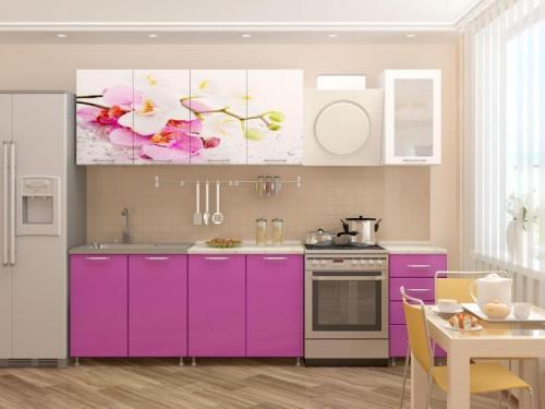Кухня с фотопечатью-056