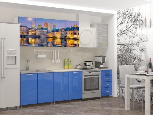 Кухня с фотопечатью-069