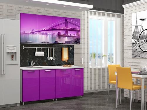 Кухня с фотопечатью-001
