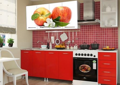 Кухня с фотопечатью-004