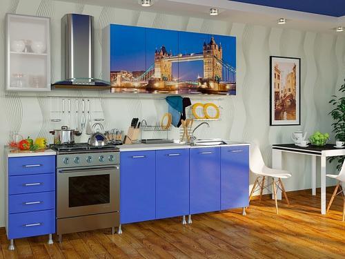 Кухня с фотопечатью-007