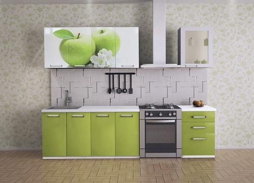 Кухня с фотопечатью-008