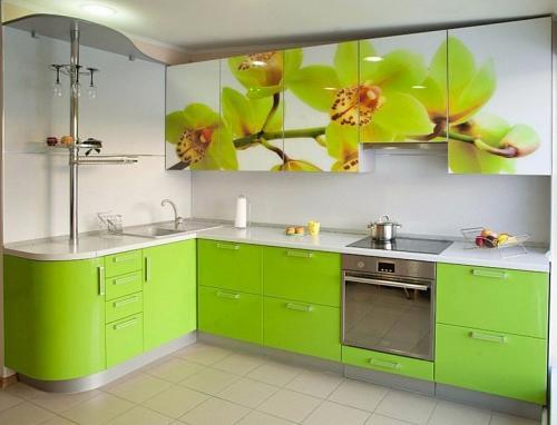 Кухня с фотопечатью-013