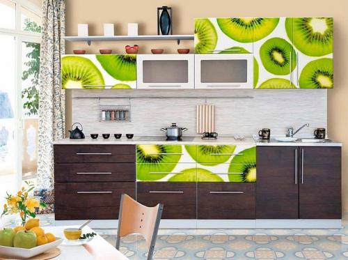 Кухня с фотопечатью-018