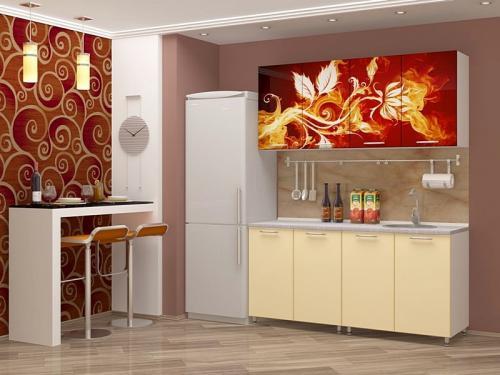 Кухня с фотопечатью-020