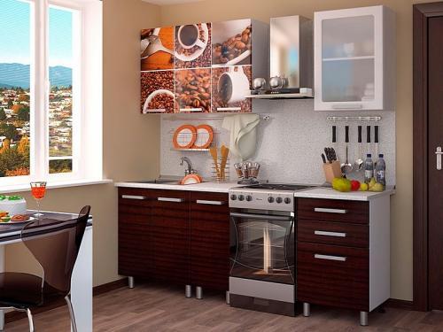 Кухня с фотопечатью-024