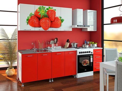 Кухня с фотопечатью-025
