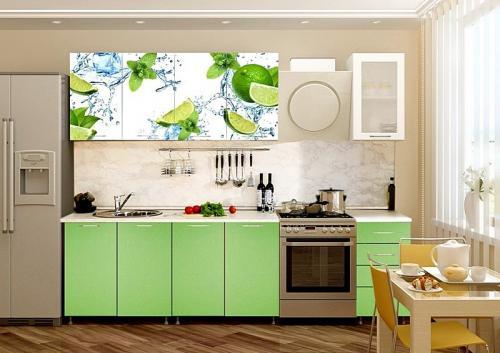 Кухня с фотопечатью-027