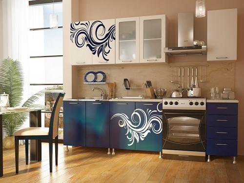 Кухня с фотопечатью-030