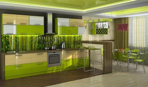 Кухня с фотопечатью-031