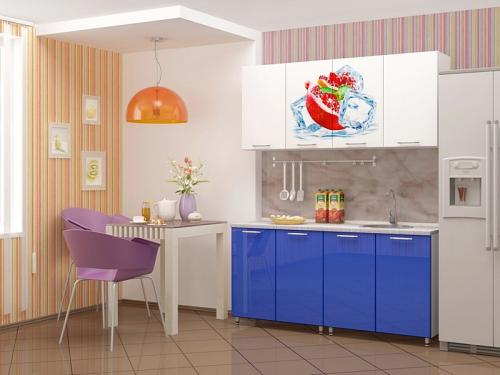 Кухня с фотопечатью-033