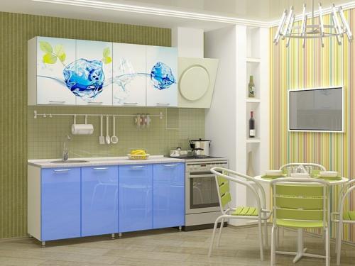 Кухня с фотопечатью-035
