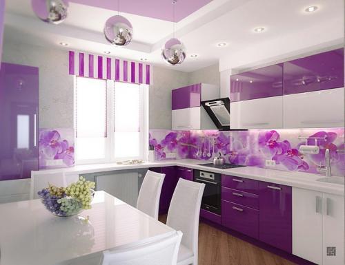 Кухня с фотопечатью-039