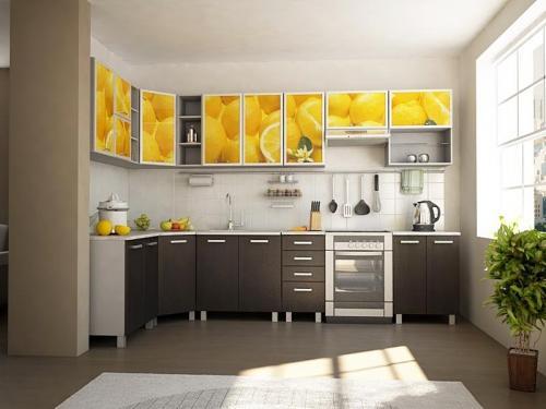 Кухня с фотопечатью-040