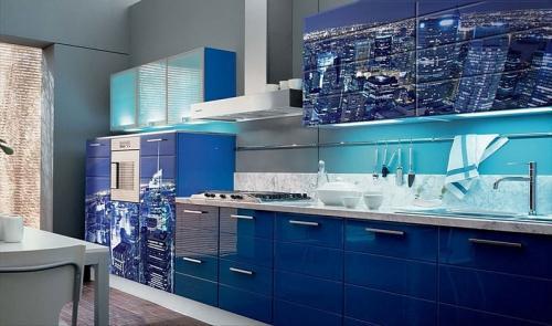 Кухня с фотопечатью-041