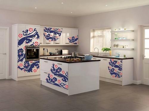 Кухня с фотопечатью-042