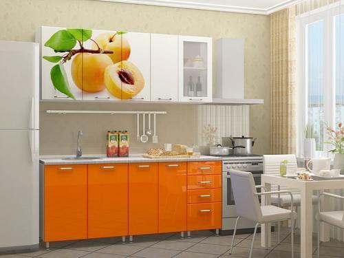 Кухня с фотопечатью-048